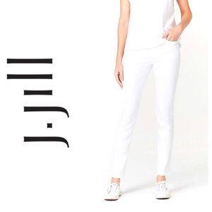 J. Jill White Slim Ankle Jeans | 8P